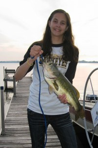 Julia with largemouth bass