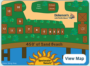 Dickerson's Resort Cottages Map