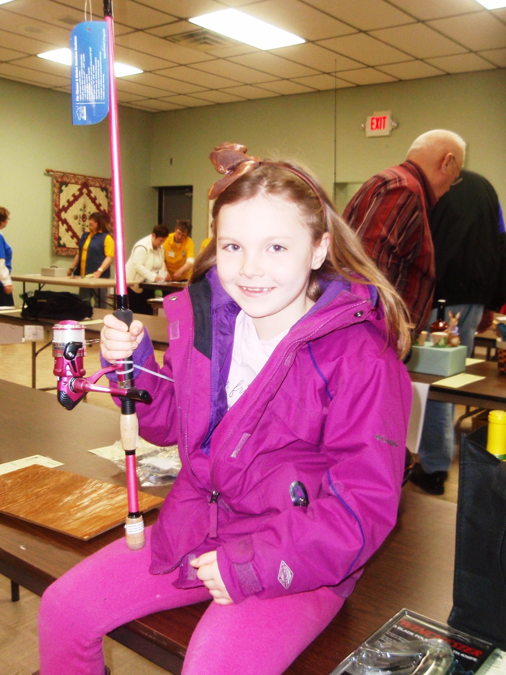 March 23 fishing curling in kandiyohi county for Little girl fishing pole