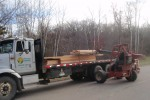 The wood for cabin #9 arrives
