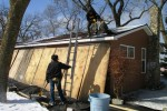 Cabin #11 gets new shingles